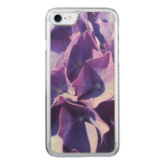 Blue Hydrangea Flowers Close Up Photo Carved iPhone 7 Case