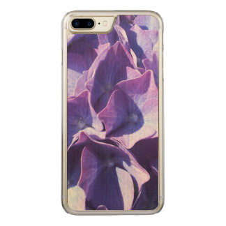 Blue Hydrangea Flowers Close Up Photo Carved iPhone 7 Plus Case
