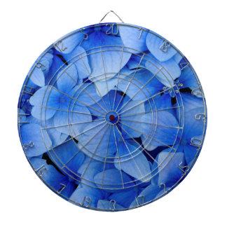 Blue Hydrangea Flowers Dart Board
