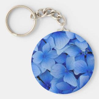 Blue Hydrangea Flowers Key Ring