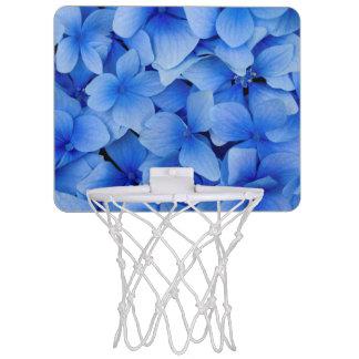 Blue Hydrangea Flowers Mini Basketball Hoop