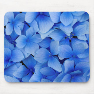 Blue Hydrangea Flowers Mouse Pad
