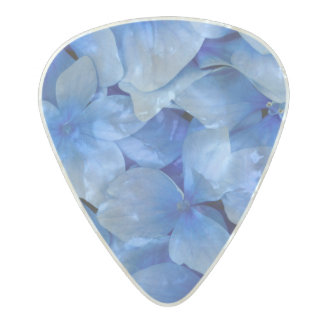 Blue Hydrangea Flowers Pearl Celluloid Guitar Pick