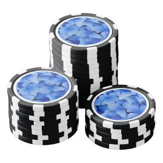 Blue Hydrangea Flowers Poker Chips