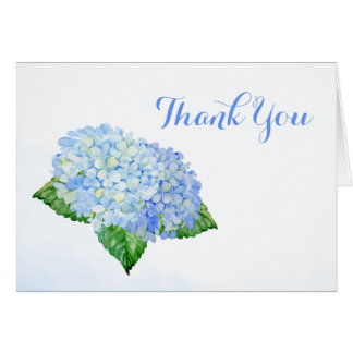 Blue Hydrangea Flowers Thank You Card