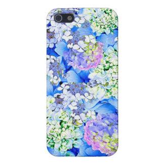 Blue Hydrangea Glossy iPhone Case