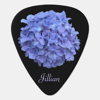 Blue Hydrangea Guitar Pick