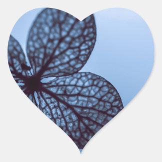 Blue Hydrangea Heart Sticker