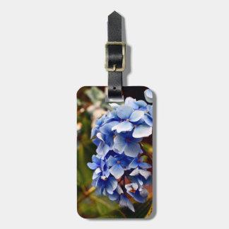 Blue Hydrangea Luggage Tag