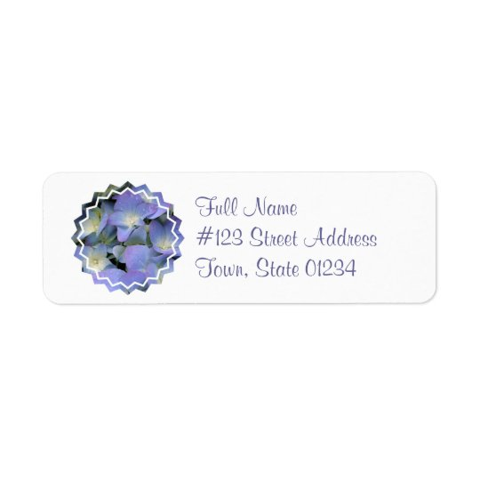 Blue Hydrangea Mailing Label
