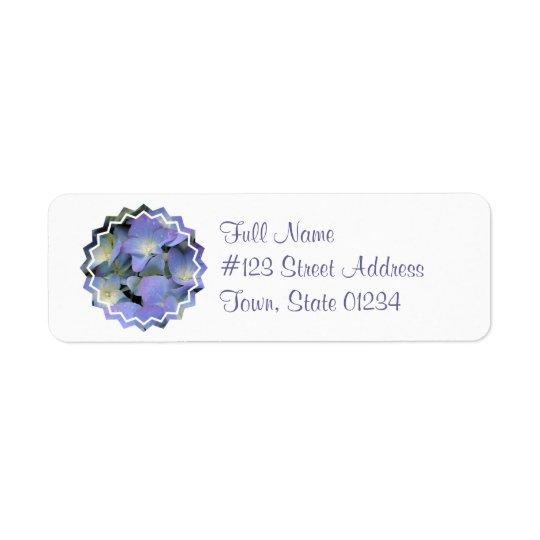 Blue Hydrangea Mailing Label Return Address Label