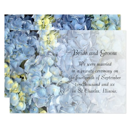 Blue Hydrangea Marriage Announcement