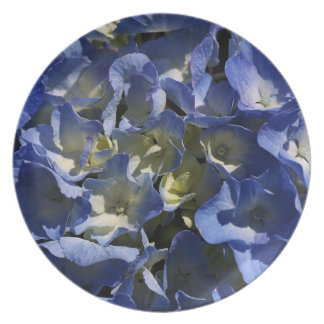 Blue Hydrangea Melamine Plate