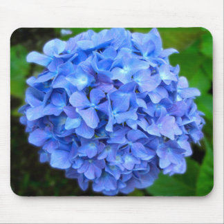 Blue Hydrangea Mouse Pads
