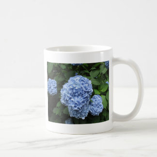 blue hydrangea coffee mug