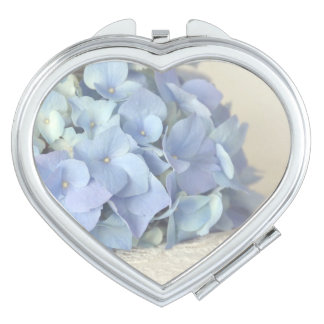 Blue Hydrangea on Vintage Lace Photograph Travel Mirrors