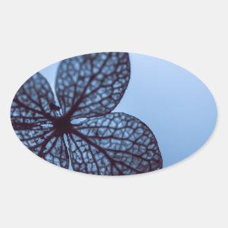 Blue Hydrangea Oval Sticker