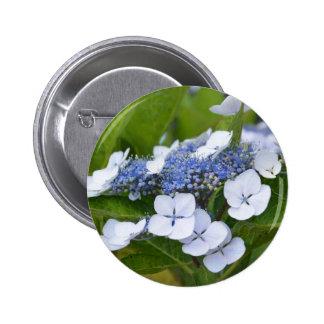 Blue Hydrangea Pinback Buttons