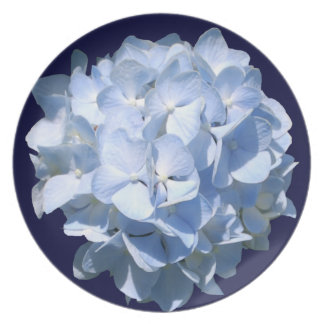 Blue Hydrangea Party Plate