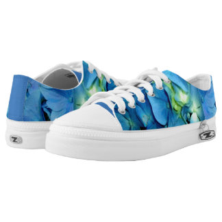 Blue Hydrangea Printed Shoes