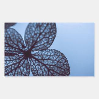 Blue Hydrangea Rectangular Sticker