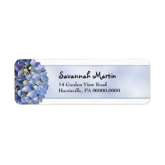 Blue Hydrangea Return Address Return Address Label