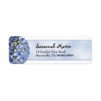 Blue Hydrangea Return Address Return Address Label