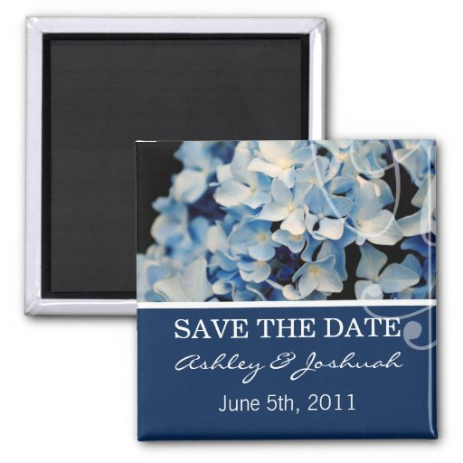 Blue Hydrangea Save The Date Magnets