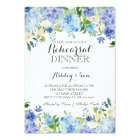 Blue hydrangea Shower Invitation