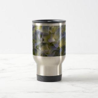 Blue hydrangea travel mug coffee mug
