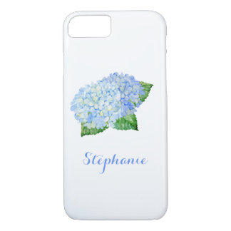 Blue Hydrangea Watercolor iPhone 8/7 Case