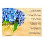 Blue Hydrangea Watercolor Mason Jar Bridal Shower Invitations