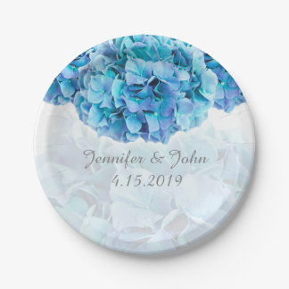 Blue Hydrangea Wedding Collection Paper Plate