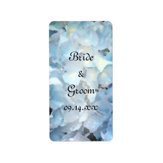 Blue Hydrangea Wedding Favour Tags Address Label