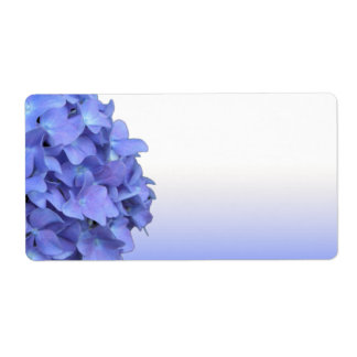 Blue Hydrangea Wedding Labels