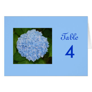 Blue Hydrangea Wedding Table Card