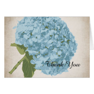 Blue Hydrangea Wedding Thank You Card