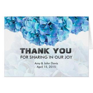 Blue hydrangea wedding thank you notes hydrangea3 note card