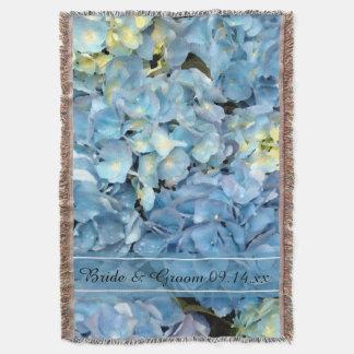 Blue Hydrangea Wedding Throw