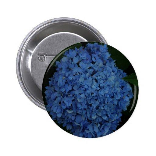 Blue Hydrangeas Pinback Button
