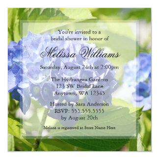 Blue Hydrangeas Bridal Shower Invitations