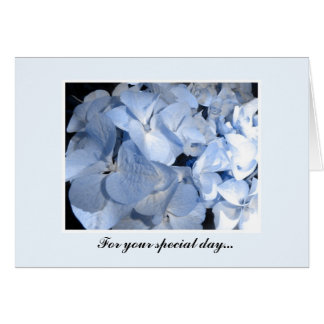 Blue Hydrangeas Card