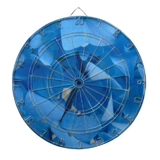 Blue Hydrangeas Dartboard