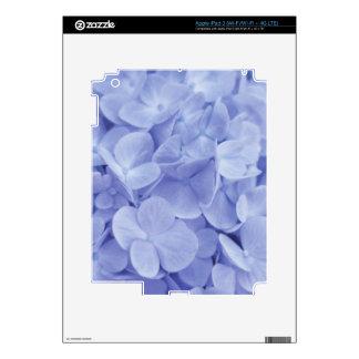 Blue Hydrangeas Decals For iPad 3