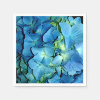 Blue Hydrangeas Disposable Serviette