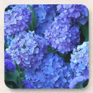 Blue Hydrangeas Floral Coaster Set