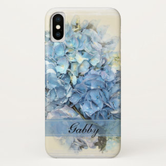Blue Hydrangeas iPhone X Case