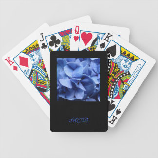 Blue Hydrangeas - Monogram Poker Deck