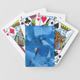 Blue Hydrangeas Poker Deck