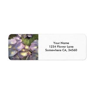 Blue Hydrangeas Return Address Label